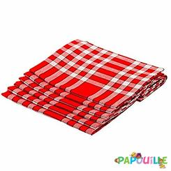 2000112lt Serviette De Table Normande Vichy 45 X 45 Lot De 12