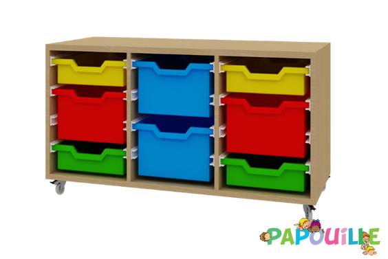 Mobilier Meuble De Rangement Creche Papouille
