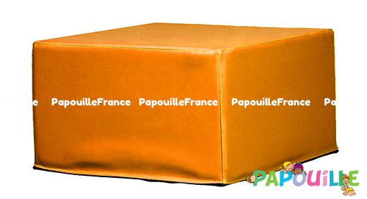 Module Bloc Carre En Mousse PVC H.23cm Orange