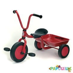 44720 Tricycle Maternelle avec Benne Mini Viking Rouge