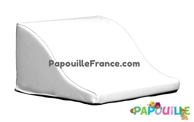 Module Demi Vague En Mousse PVC H.23cm Blanc