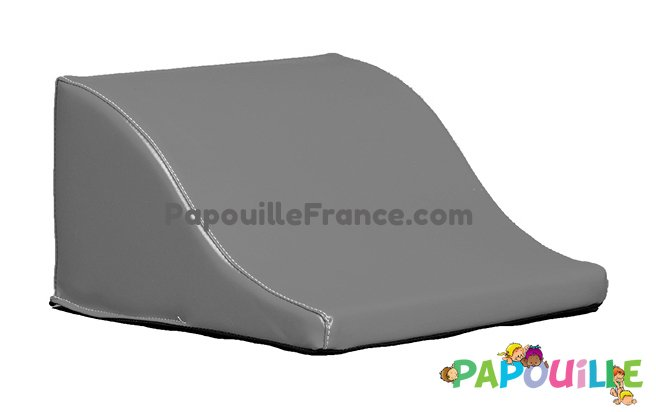 Module Demi Vague En Mousse PVC H.23cm Gris