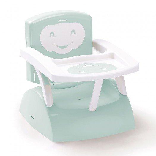 recherche chaise haute bebe en camping pas chère Rehausseur-de-chaise-babytop-bleu