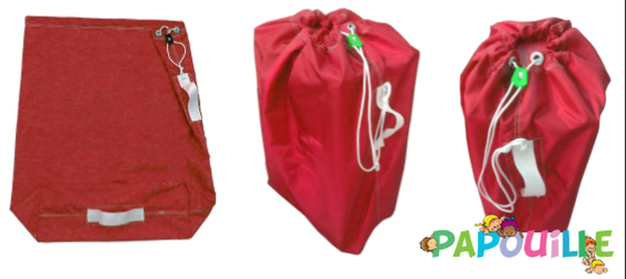 Change - Linge de Toilette Bébé, Enfant - GRAND SAC A LINGE ROUGE 90 L